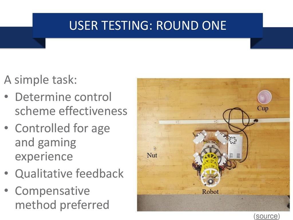 A simple task: • Determine control scheme effec...