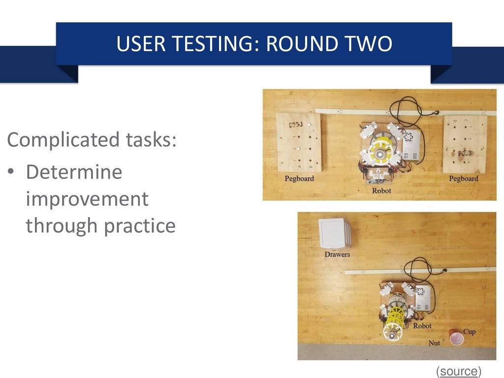 Complicated tasks: • Determine improvement thro...