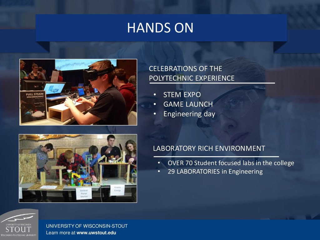 LABORATORY RICH ENVIRONMENT • OVER 70 Student f...