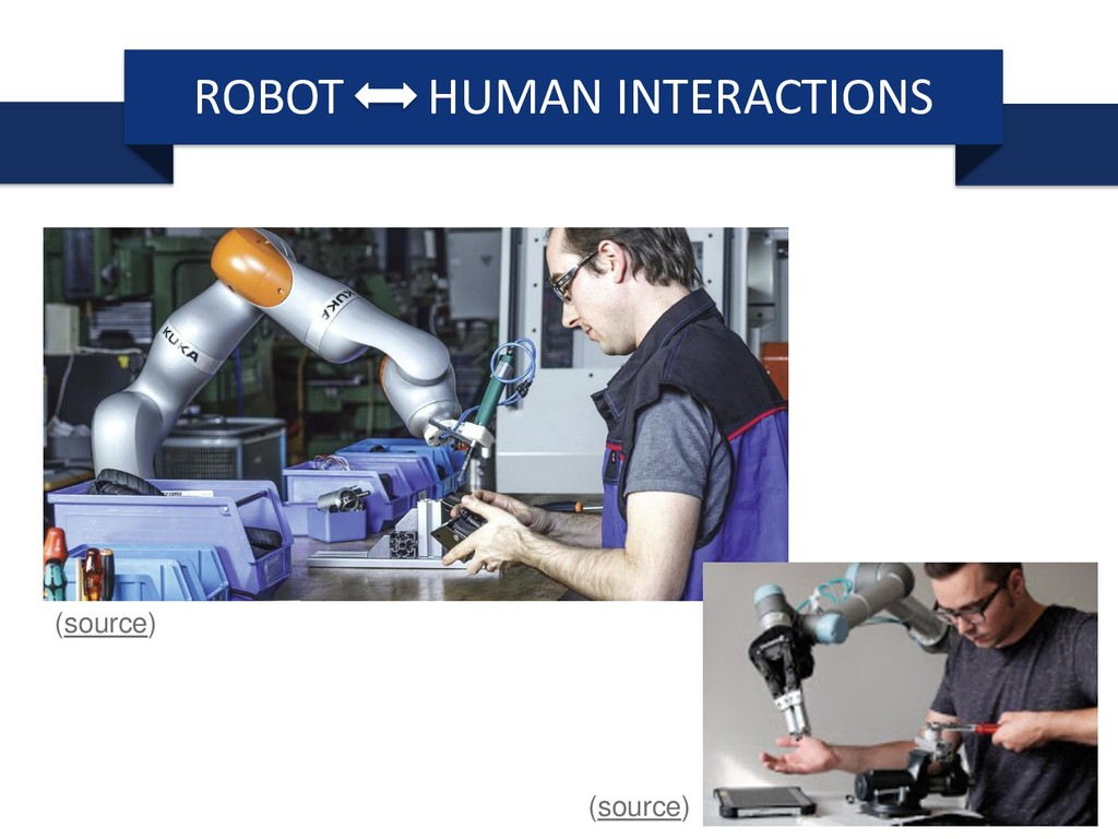 ROBOT HUMAN INTERACTIONS (source) (source)