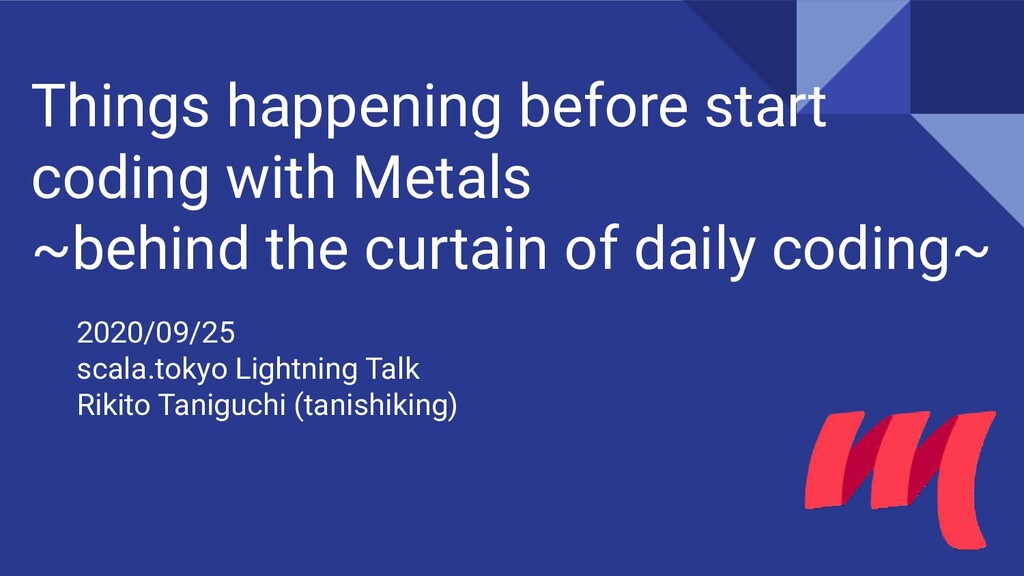 Things happening before start coding with Metal...