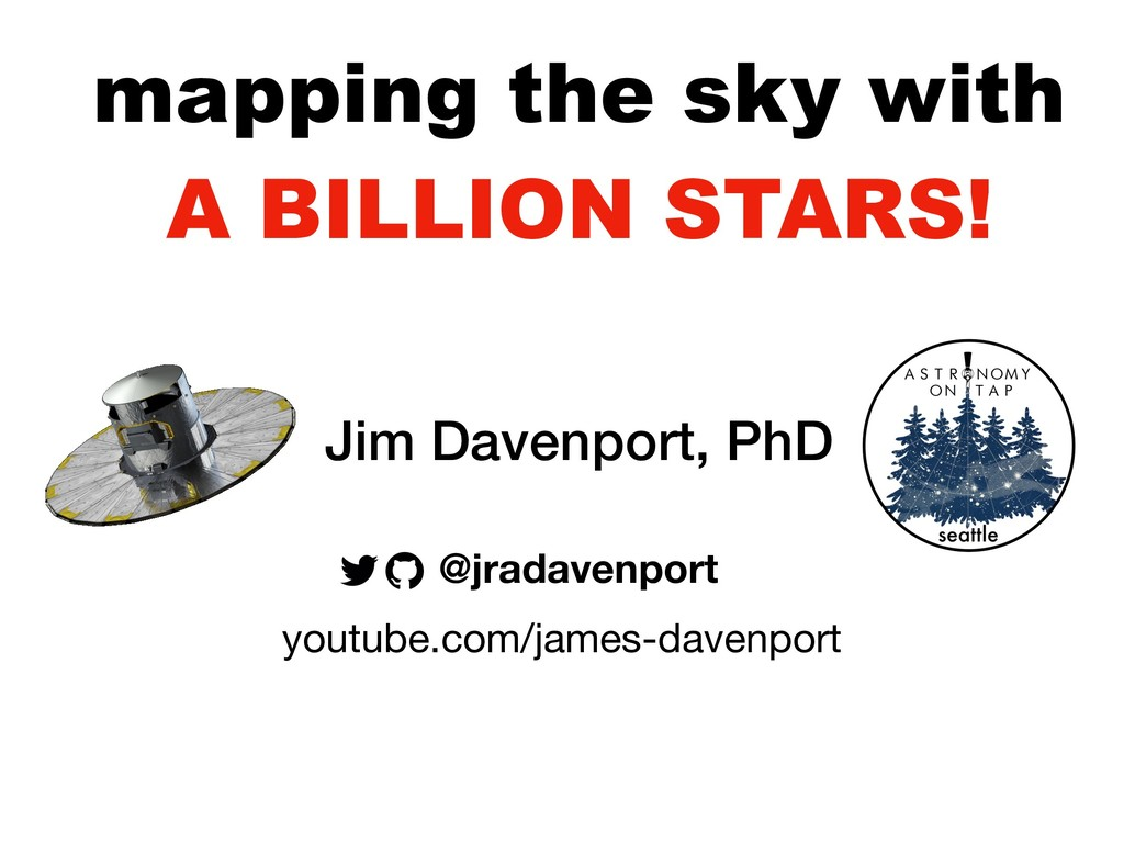 mapping the sky with A BILLION STARS! @jradaven...
