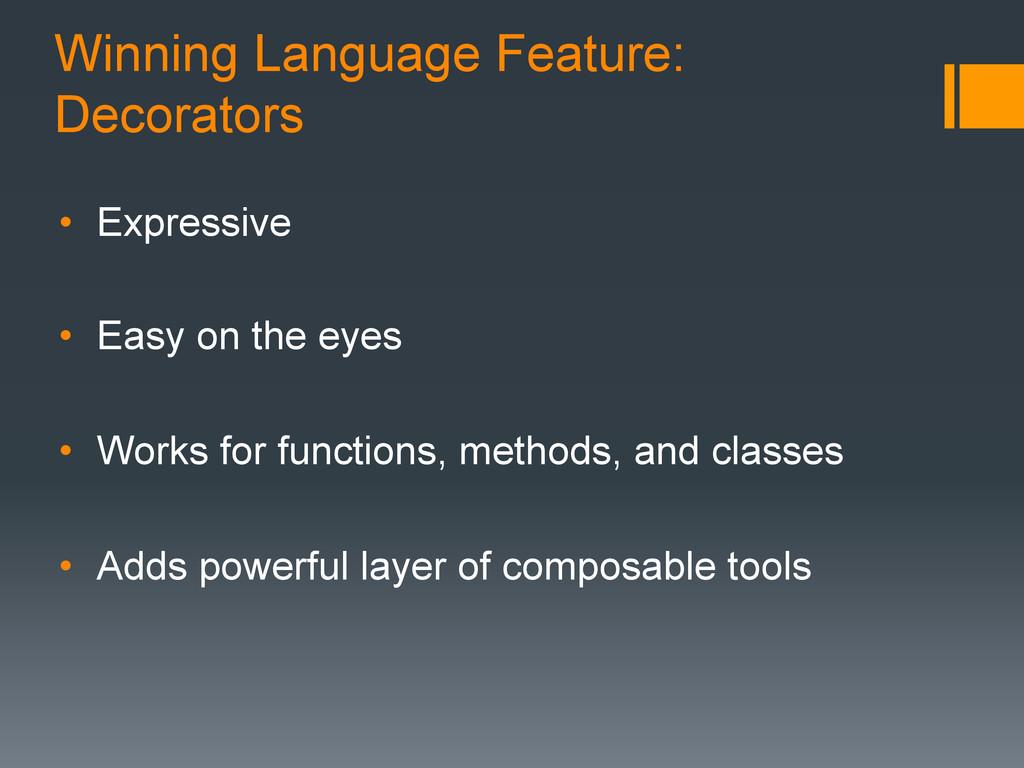 Winning Language Feature: Decorators • Express...