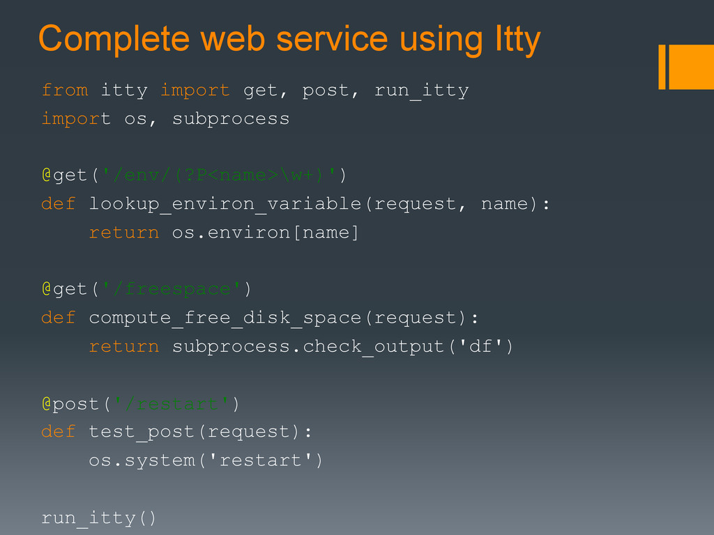 Complete web service using Itty from itty impor...