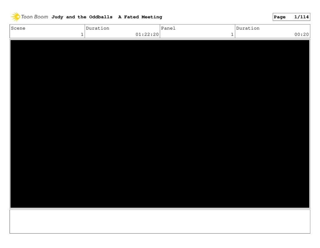 Scene 1 Duration 01:22:20 Panel 1 Duration 00:2...