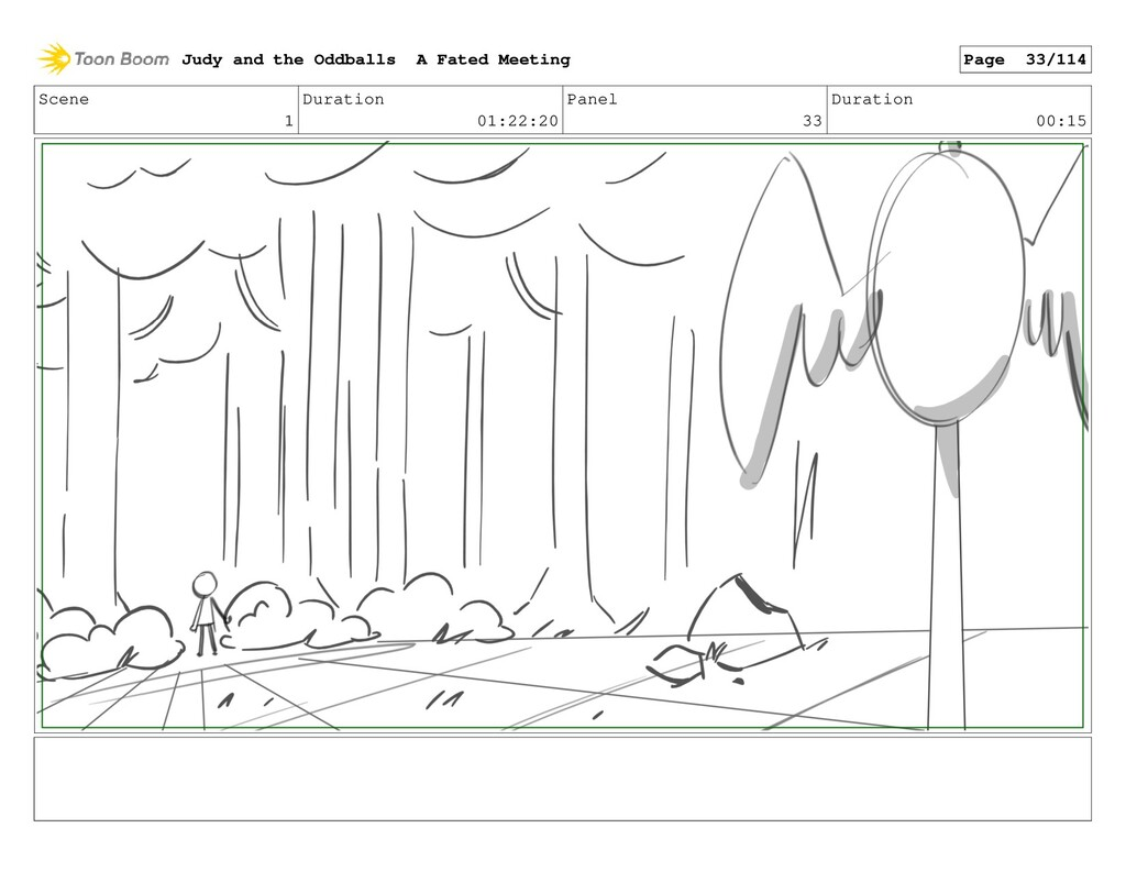 Scene 1 Duration 01:22:20 Panel 33 Duration 00:...