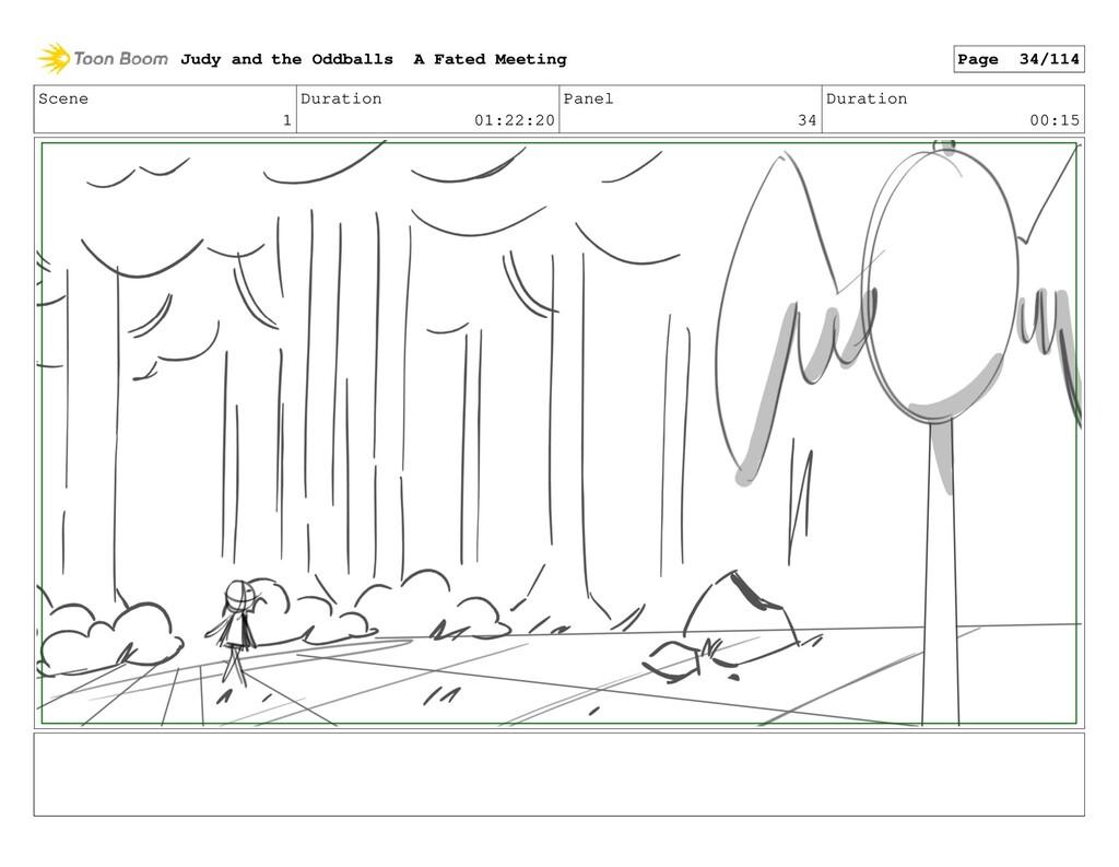 Scene 1 Duration 01:22:20 Panel 34 Duration 00:...