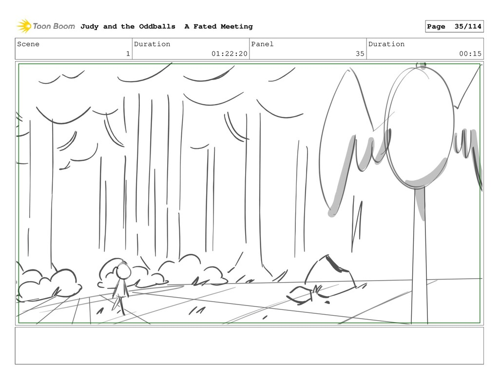 Scene 1 Duration 01:22:20 Panel 35 Duration 00:...