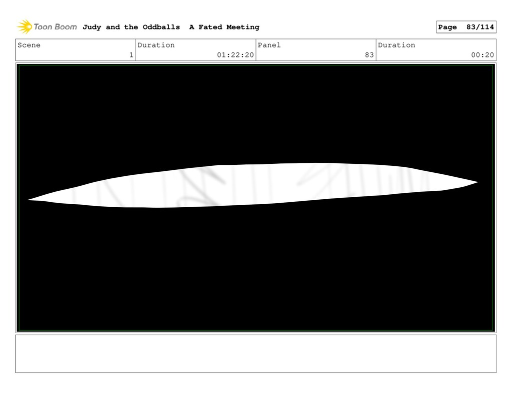 Scene 1 Duration 01:22:20 Panel 83 Duration 00:...