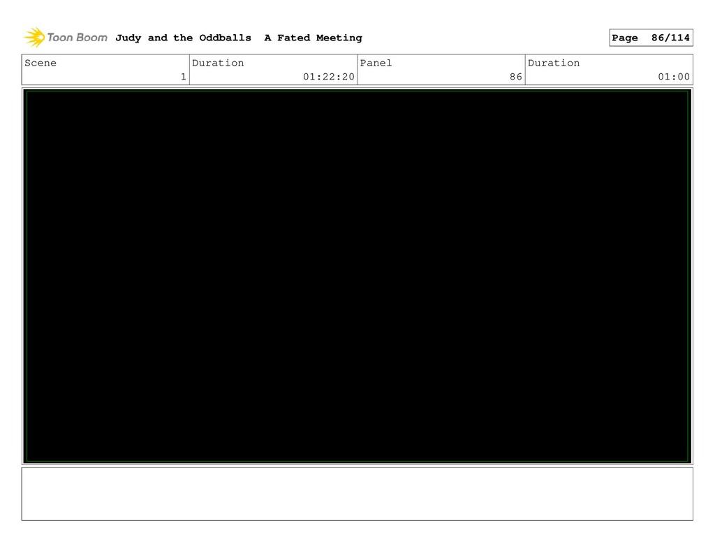 Scene 1 Duration 01:22:20 Panel 86 Duration 01:...