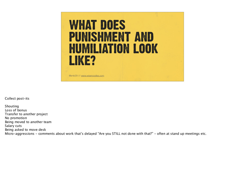WHAT DOES PUNISHMENT AND HUMILIATION LOOK LIKE?...