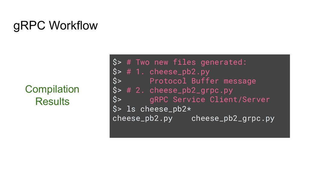 $> # Two new files generated: $> # 1. cheese_pb...