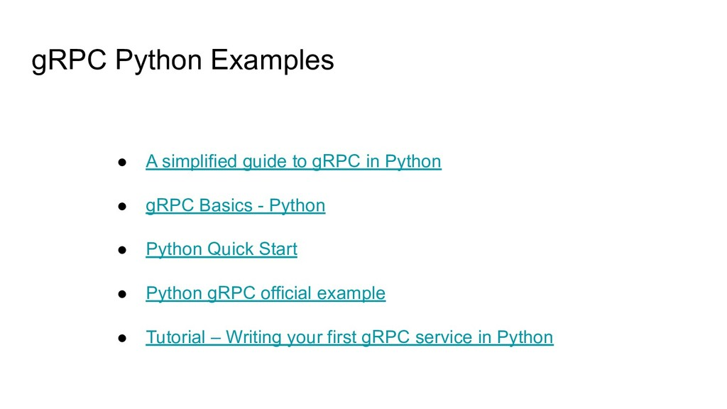 gRPC Python Examples ● A simplified guide to gR...