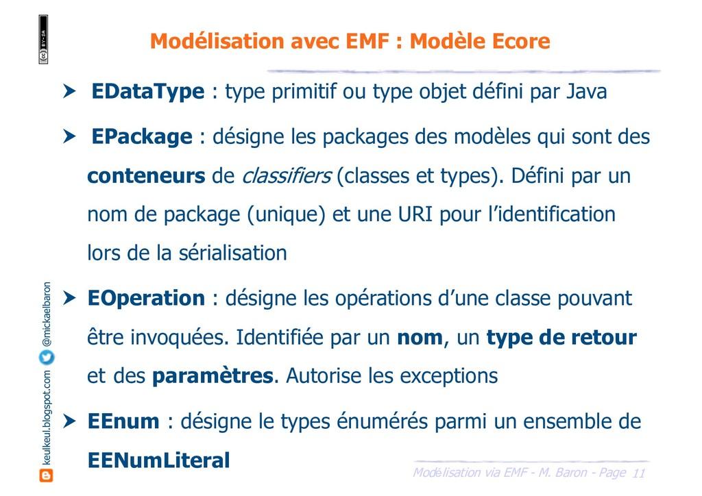 11 Modélisation via EMF - M. Baron - Page keulk...