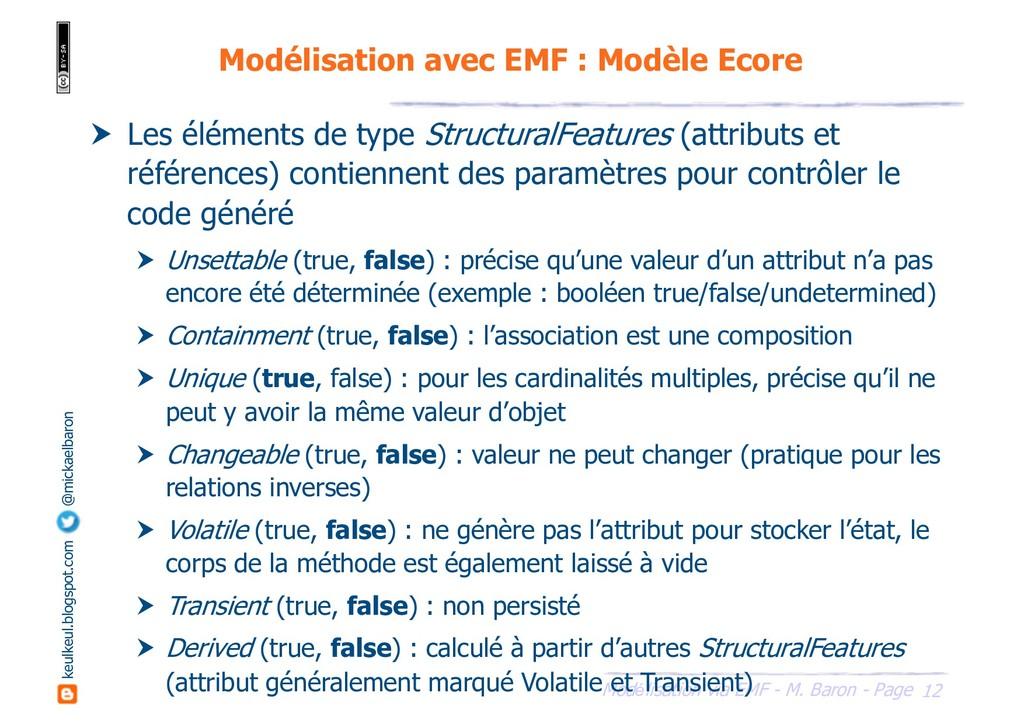 12 Modélisation via EMF - M. Baron - Page keulk...