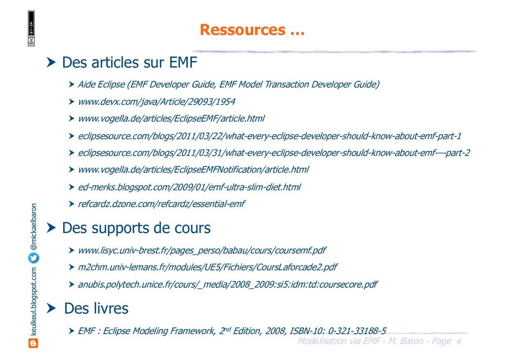 4 Modélisation via EMF - M. Baron - Page keulke...