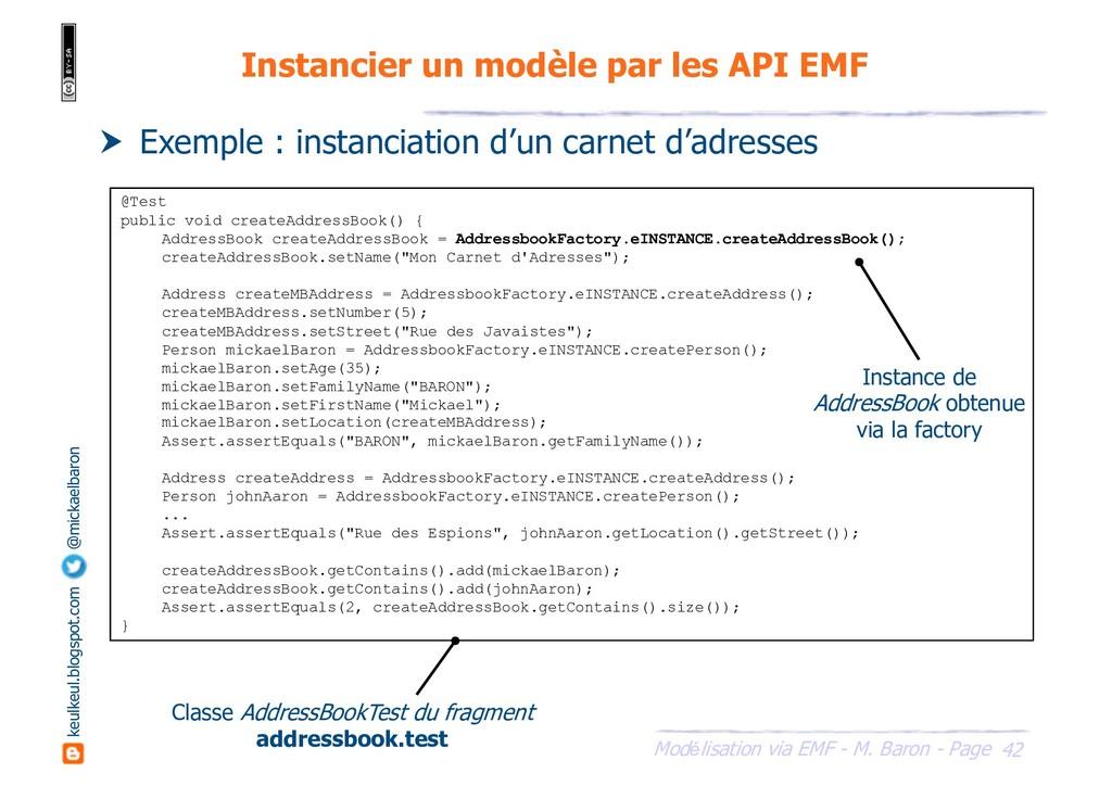 42 Modélisation via EMF - M. Baron - Page keulk...