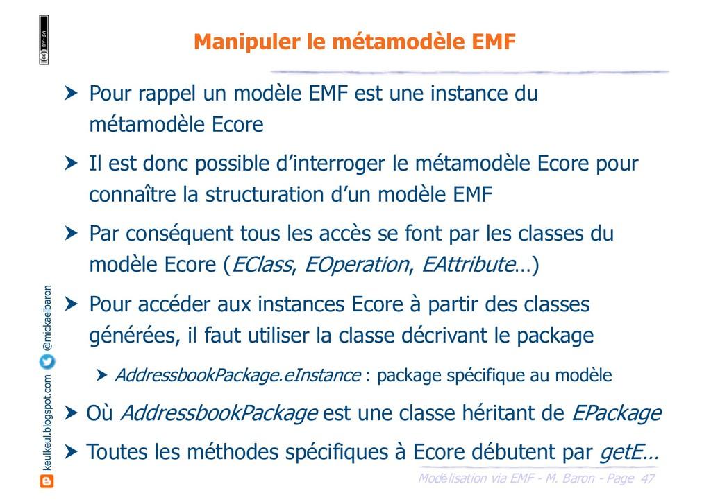 47 Modélisation via EMF - M. Baron - Page keulk...
