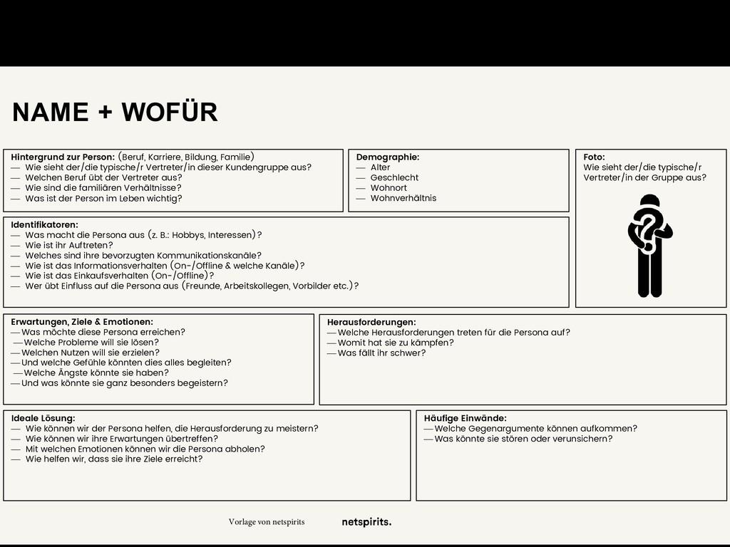 NAME + WOFÜR Foto: Wie sieht der/die typische/r...