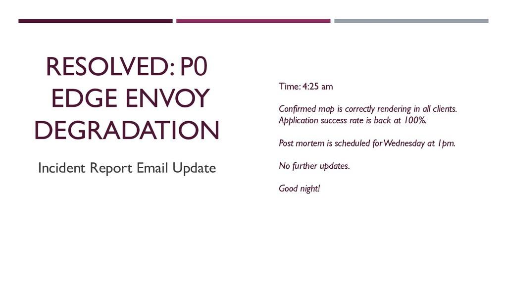 RESOLVED: P0 EDGE ENVOY DEGRADATION Incident Re...