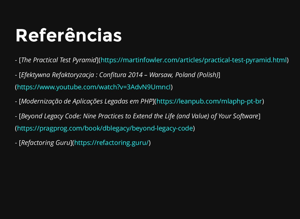 Referências Referências - [The Practical Test P...