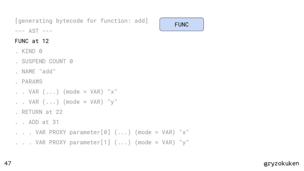 @ryzokuken @ryzokuken 47 [generating bytecode f...