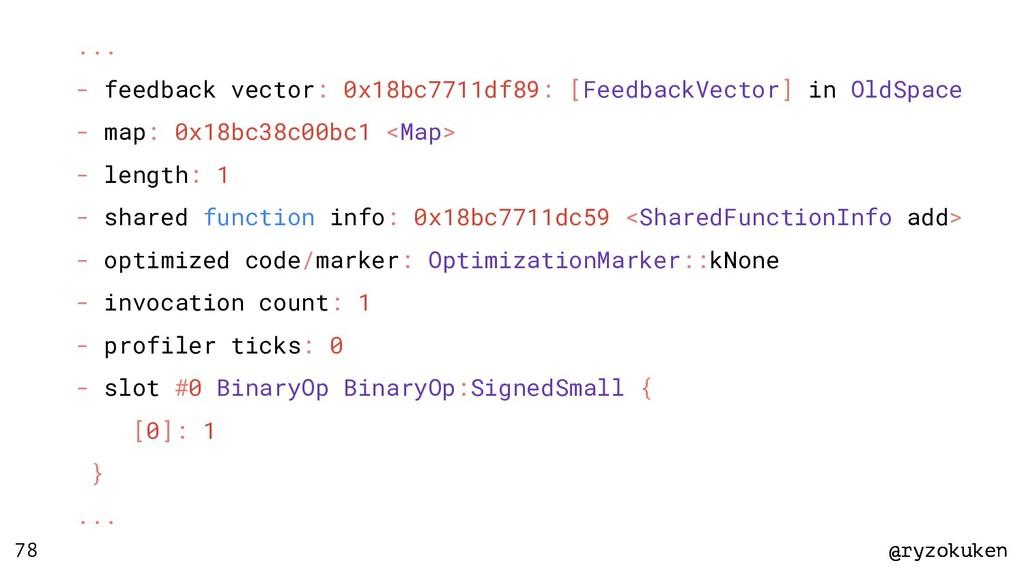 @ryzokuken @ryzokuken 78 ... - feedback vector:...