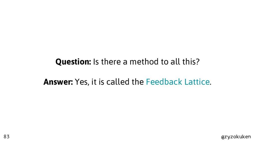 @ryzokuken @ryzokuken 83 Question: Is there a m...