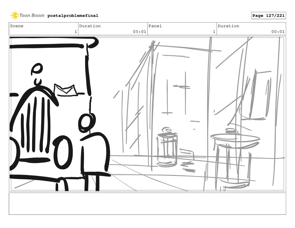 Scene 1 Duration 05:01 Panel 1 Duration 00:01 p...