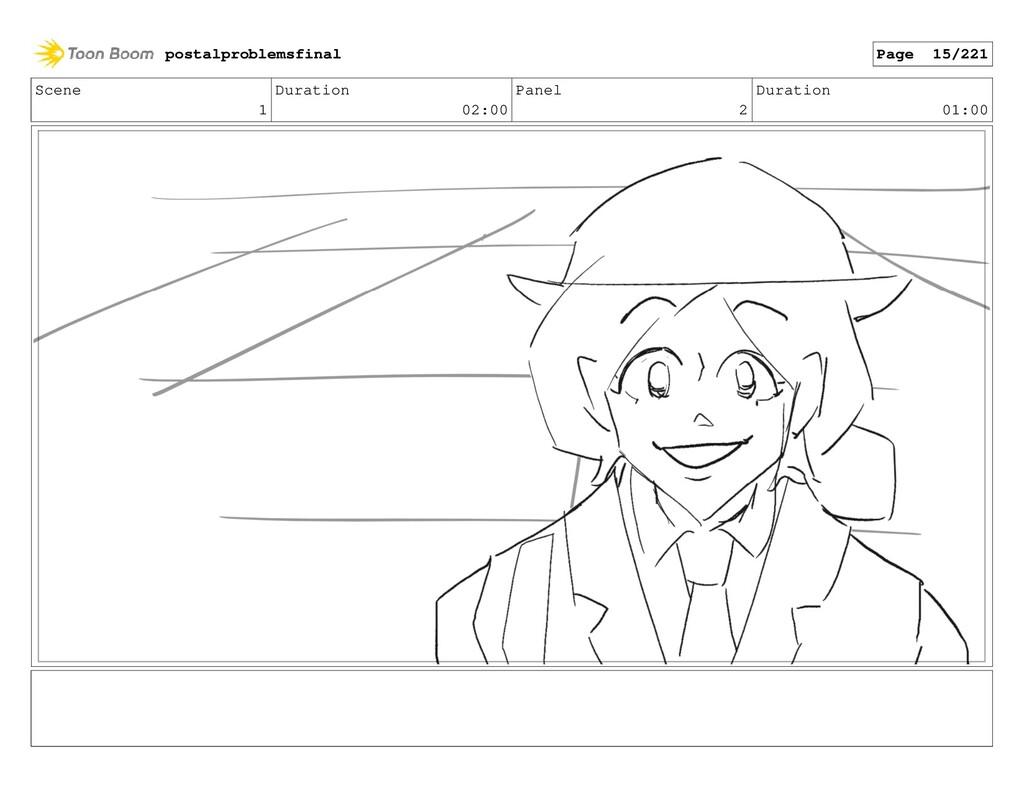 Scene 1 Duration 02:00 Panel 2 Duration 01:00 p...