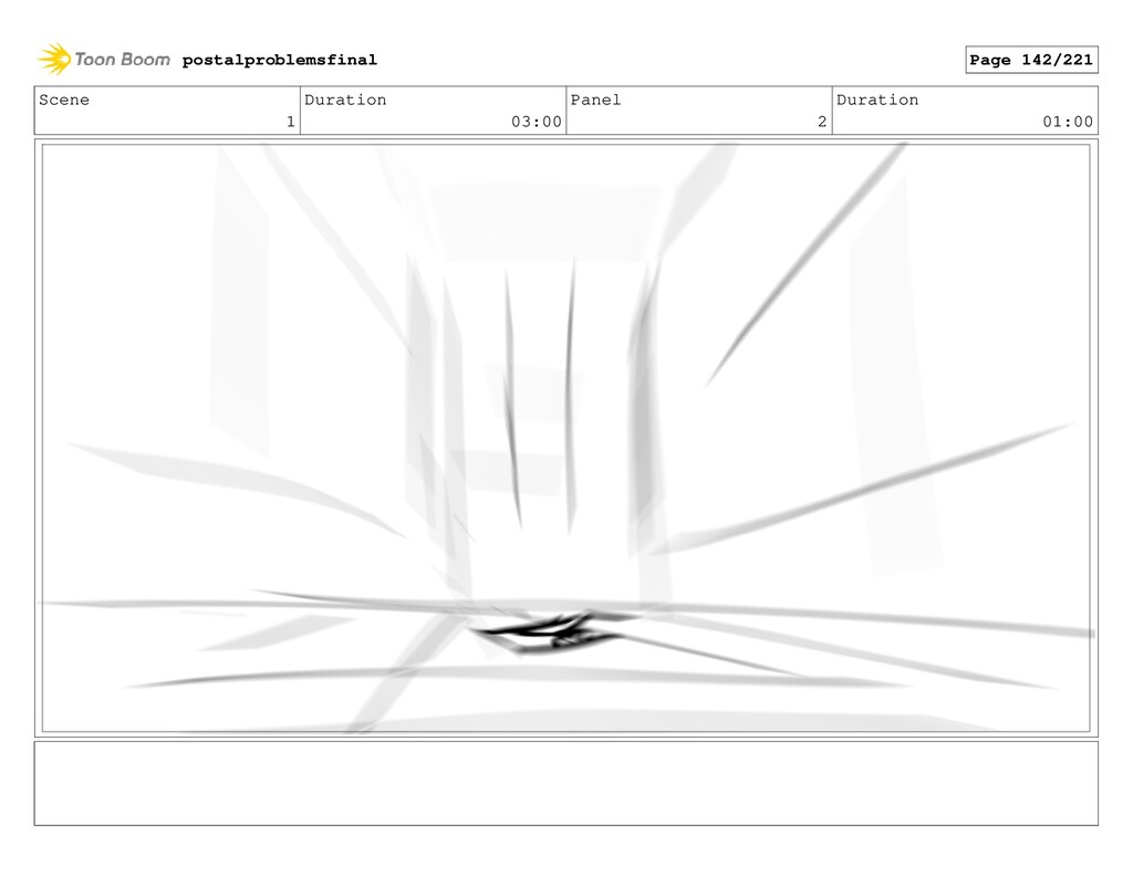Scene 1 Duration 03:00 Panel 2 Duration 01:00 p...
