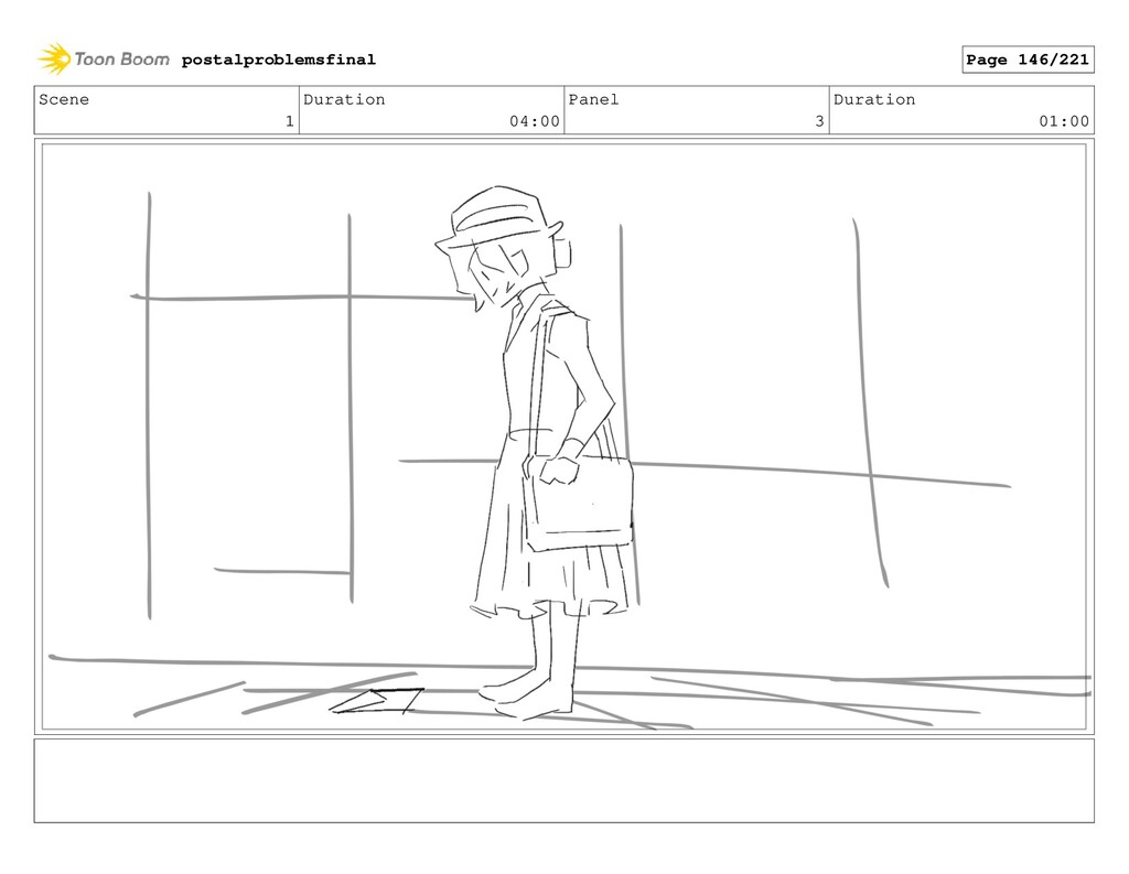 Scene 1 Duration 04:00 Panel 3 Duration 01:00 p...