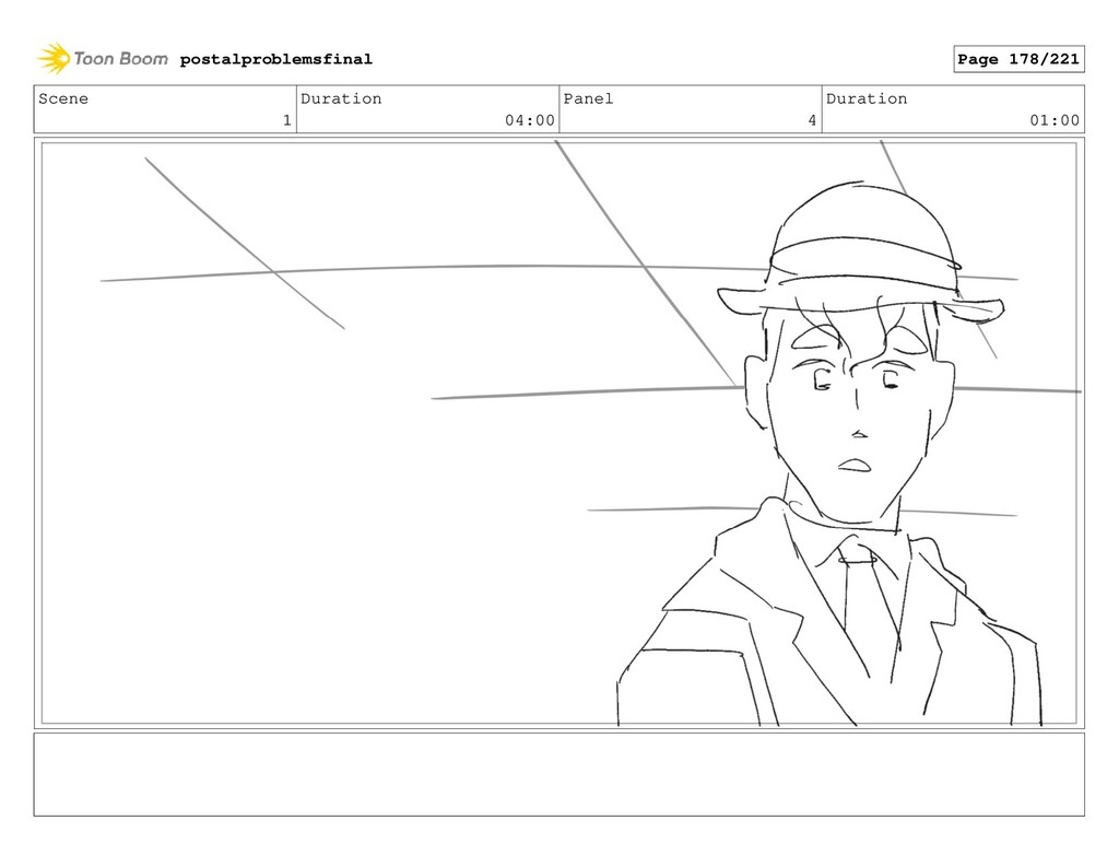 Scene 1 Duration 04:00 Panel 4 Duration 01:00 p...