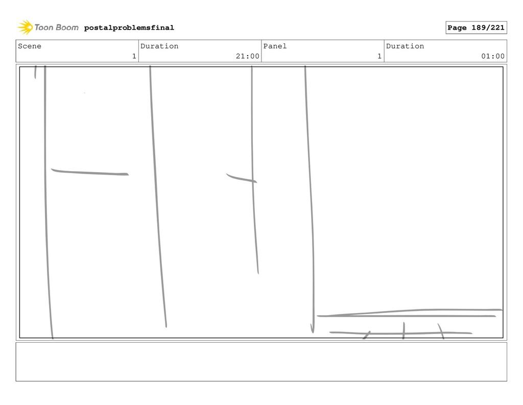 Scene 1 Duration 21:00 Panel 1 Duration 01:00 p...