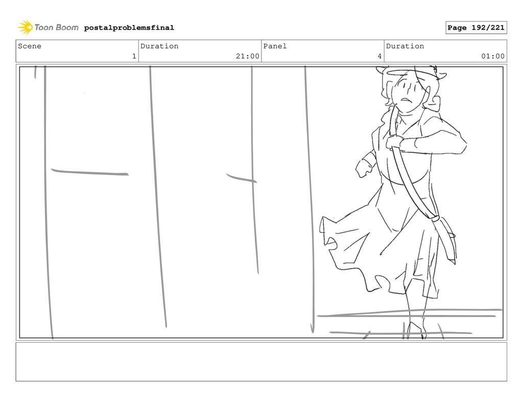 Scene 1 Duration 21:00 Panel 4 Duration 01:00 p...