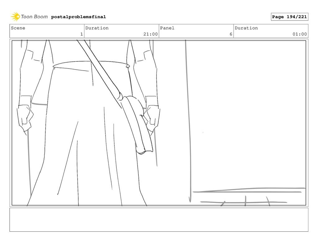 Scene 1 Duration 21:00 Panel 6 Duration 01:00 p...