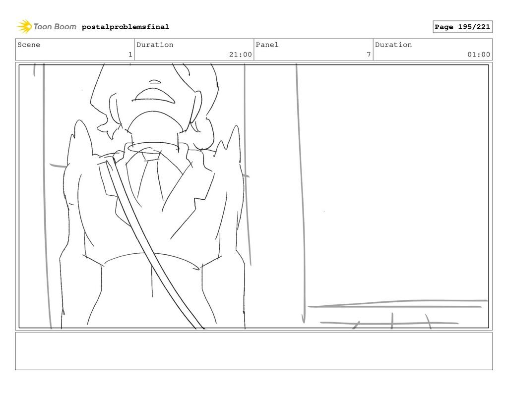 Scene 1 Duration 21:00 Panel 7 Duration 01:00 p...