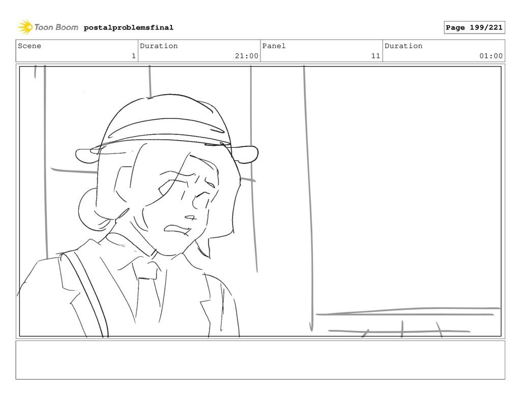 Scene 1 Duration 21:00 Panel 11 Duration 01:00 ...
