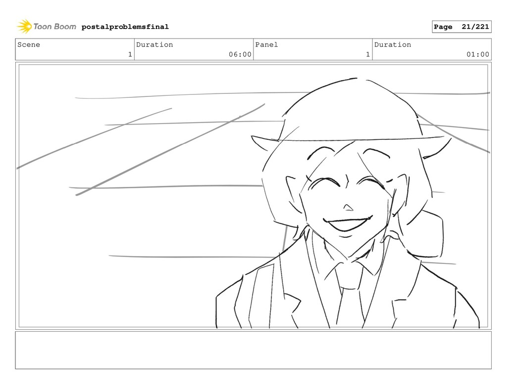 Scene 1 Duration 06:00 Panel 1 Duration 01:00 p...