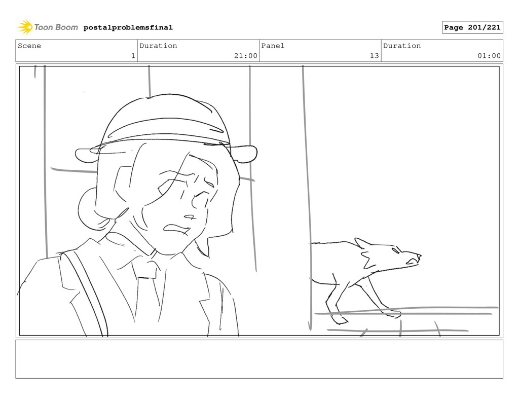 Scene 1 Duration 21:00 Panel 13 Duration 01:00 ...