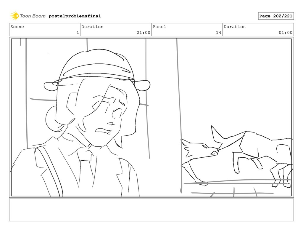 Scene 1 Duration 21:00 Panel 14 Duration 01:00 ...