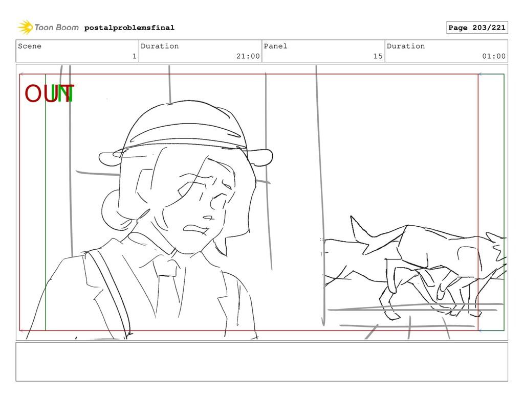 Scene 1 Duration 21:00 Panel 15 Duration 01:00 ...