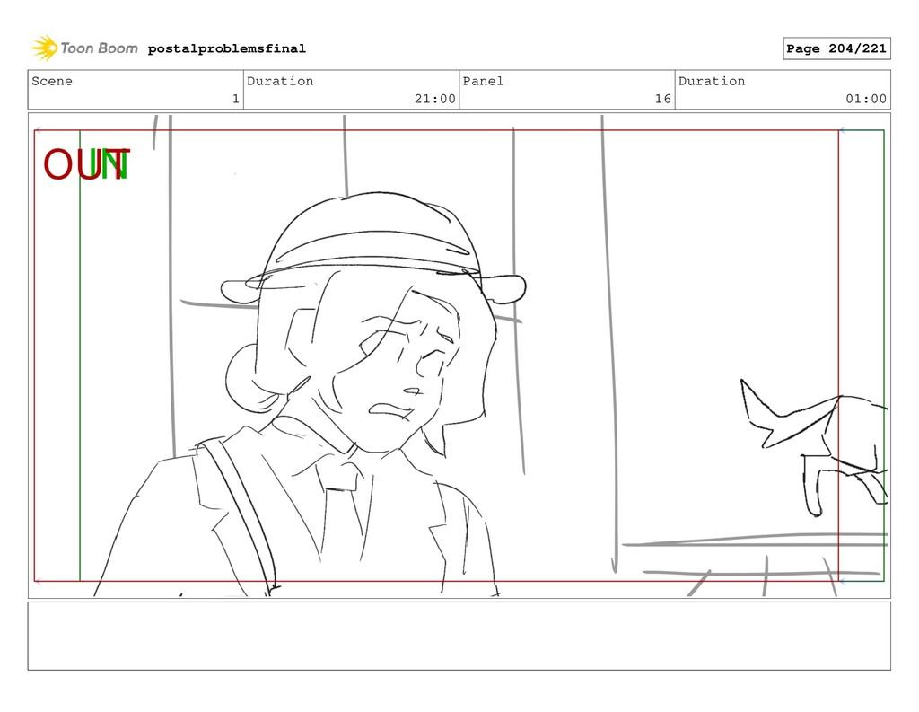 Scene 1 Duration 21:00 Panel 16 Duration 01:00 ...