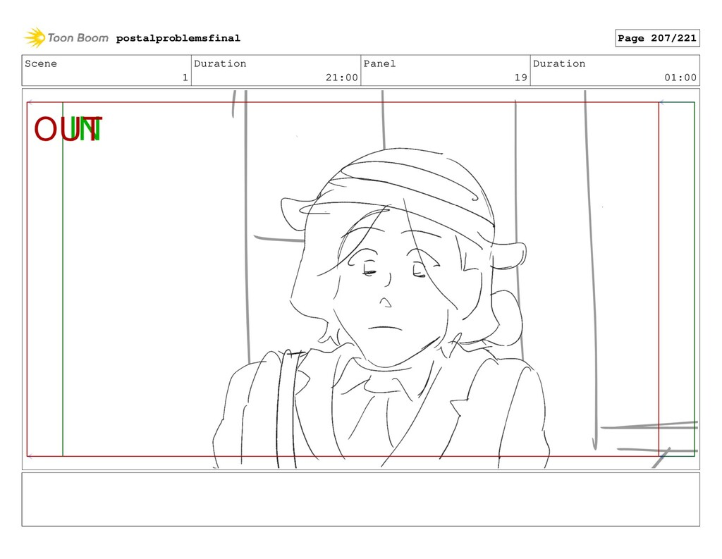 Scene 1 Duration 21:00 Panel 19 Duration 01:00 ...