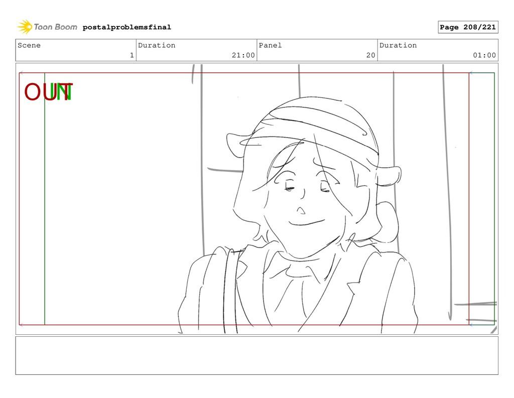 Scene 1 Duration 21:00 Panel 20 Duration 01:00 ...