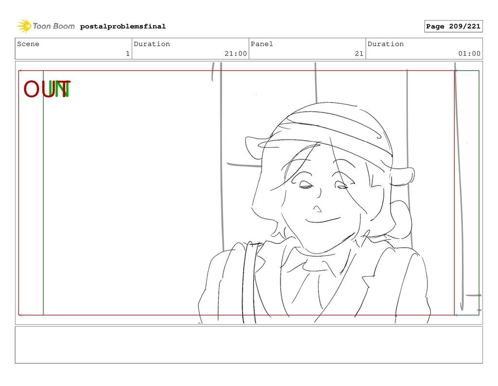 Scene 1 Duration 21:00 Panel 21 Duration 01:00 ...