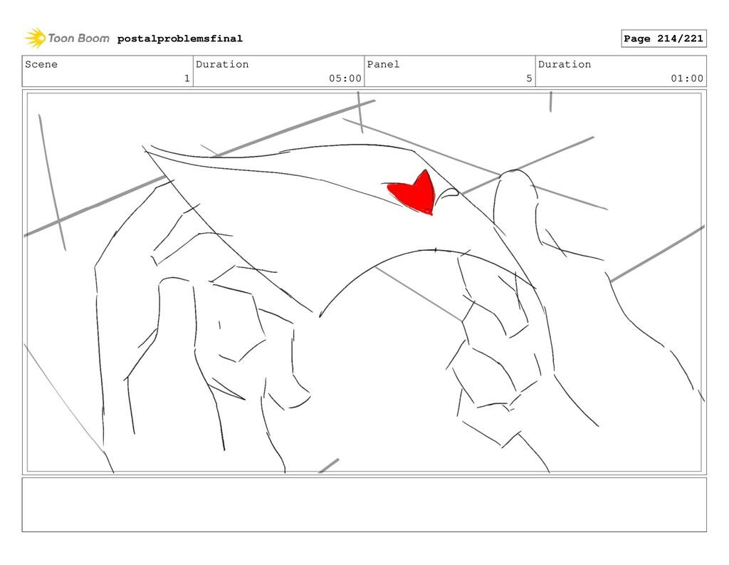 Scene 1 Duration 05:00 Panel 5 Duration 01:00 p...