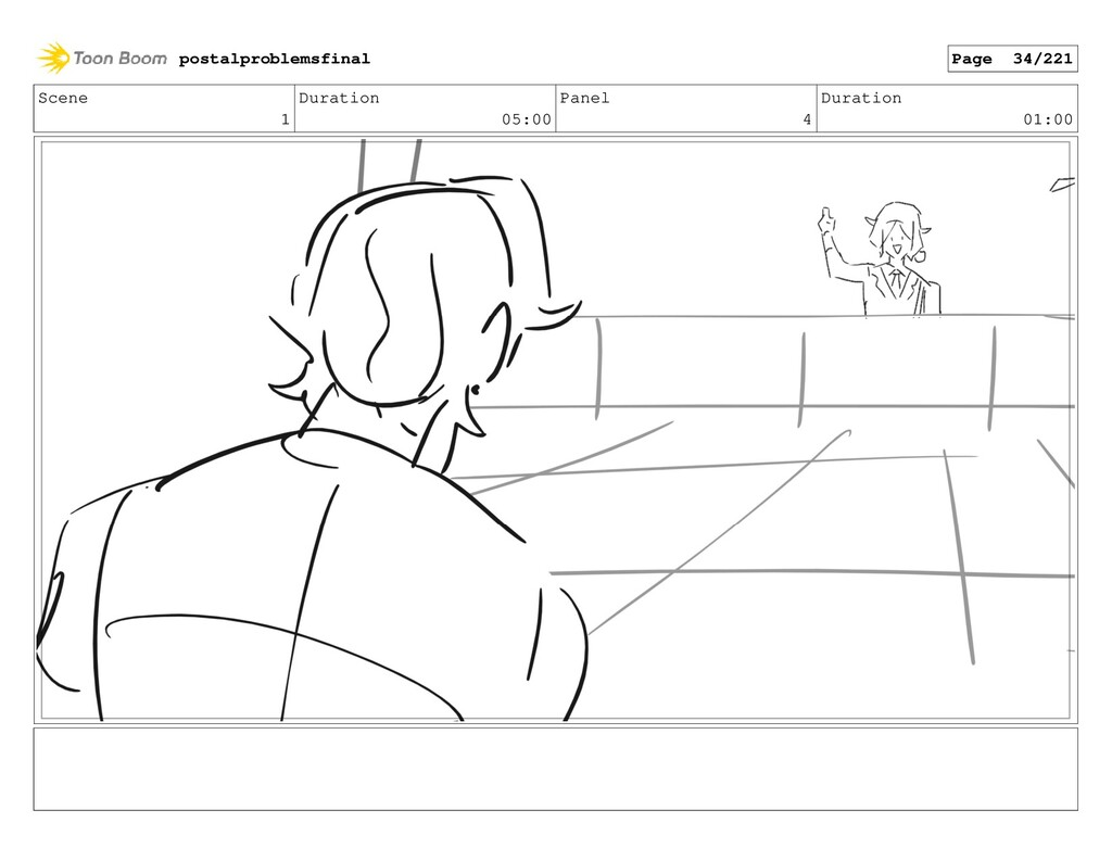Scene 1 Duration 05:00 Panel 4 Duration 01:00 p...