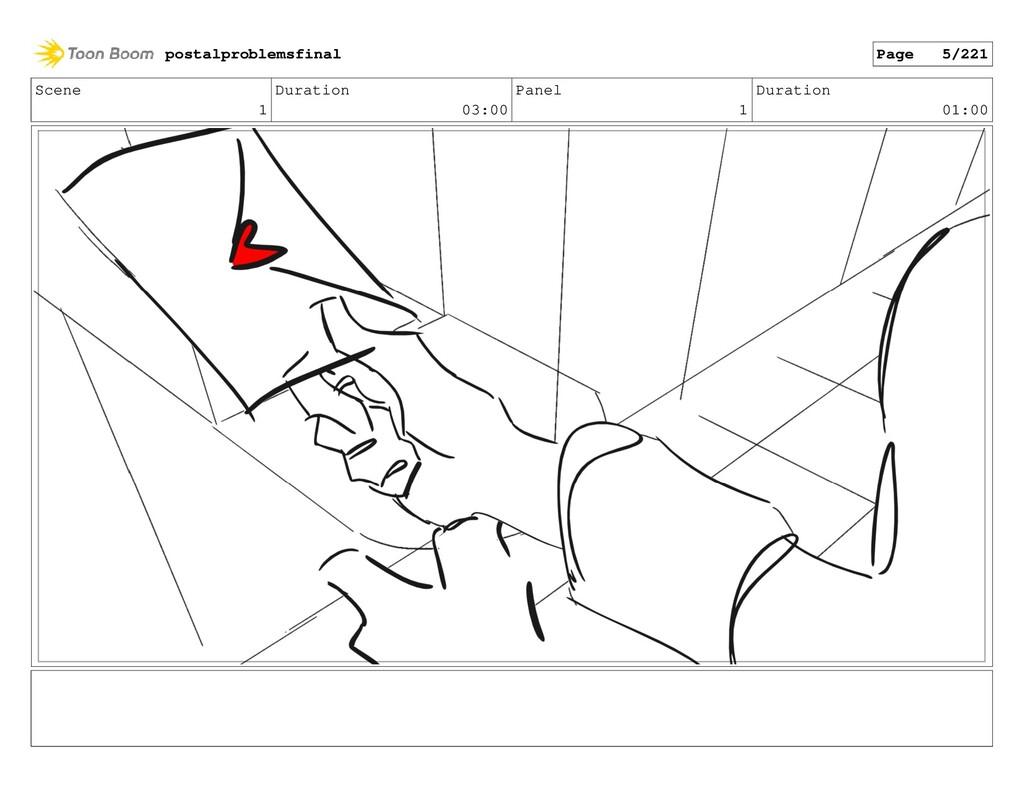 Scene 1 Duration 03:00 Panel 1 Duration 01:00 p...