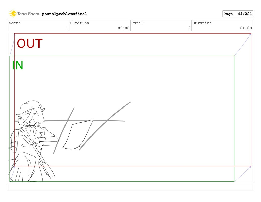 Scene 1 Duration 09:00 Panel 3 Duration 01:00 p...